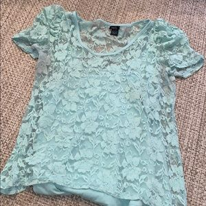 Mint lace shirt!